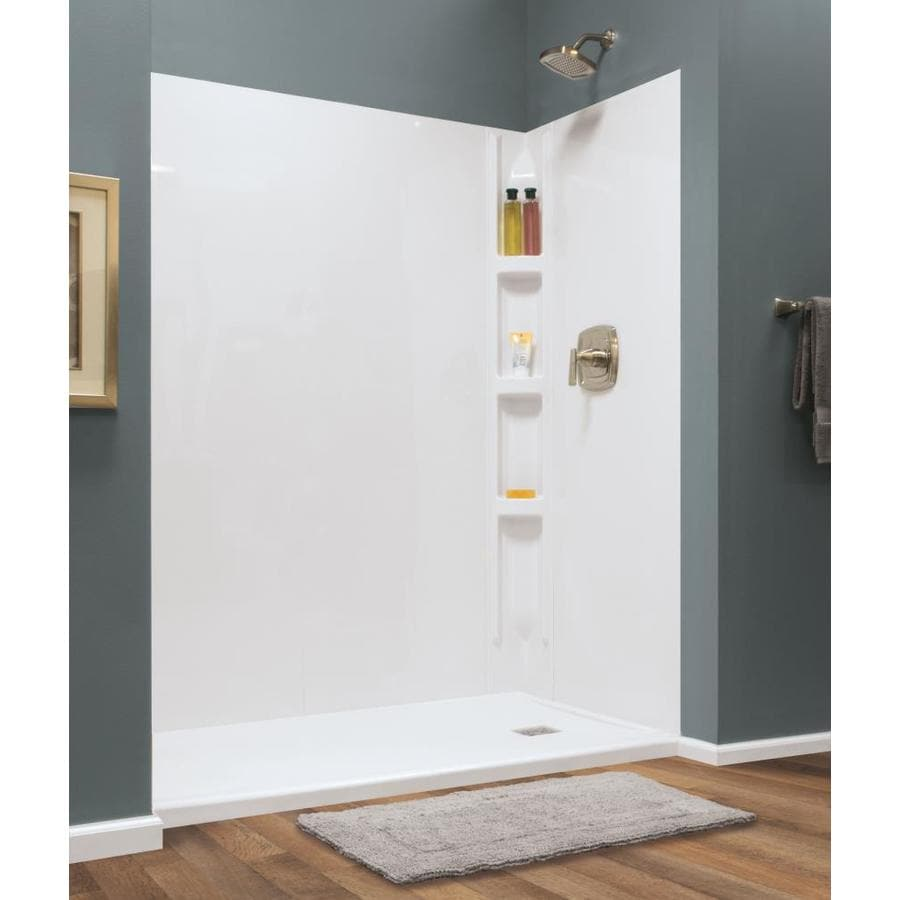 Style Selections White Shower Wall Surround Multi Piece Common 36 In X