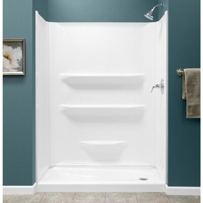 27 X 54 Shower Base.54x27 White 2 Piece Alcove Shower Kit Common 54 In X 30 In Actual 54 In X 27 In