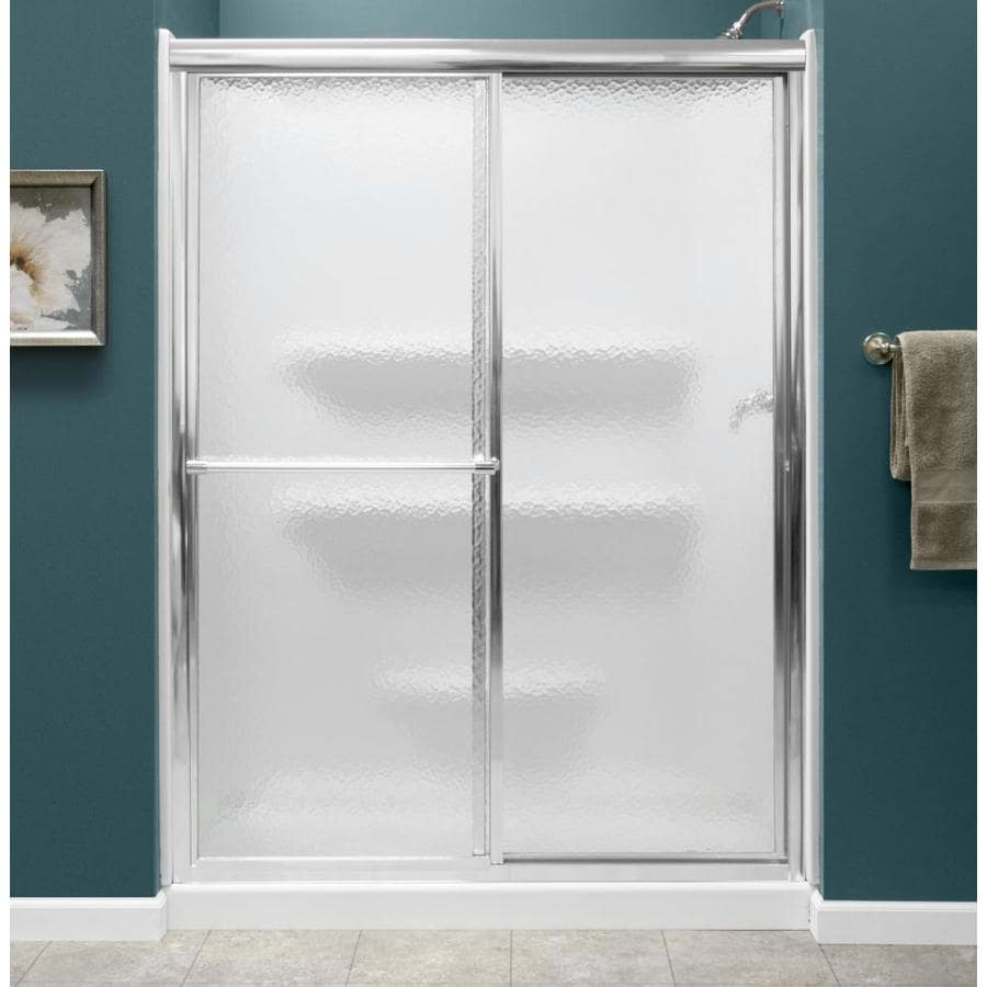 Shop Style Selections White 3-Piece Alcove Shower Kit (Common: x 54 ...