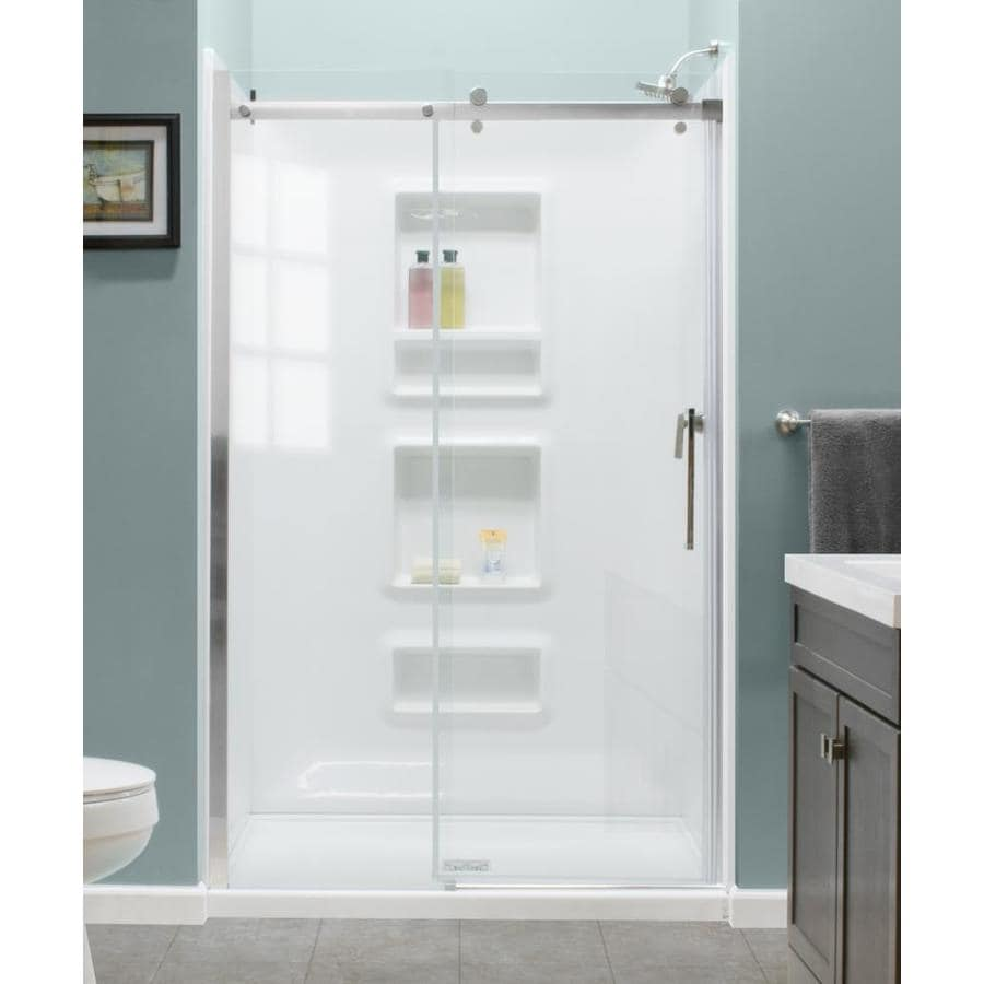 Shop Style Selections 48 In. x 72 In. Frame Less Door at Lowes.com