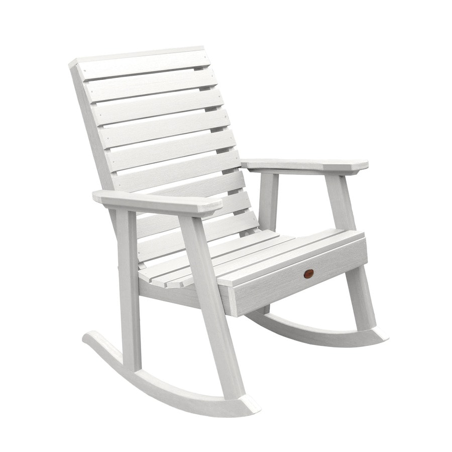 Highwood Weatherly White Plastic Frame Rocking Chair S With Slat Seat In The Patio Chairs Department At Lowes Com