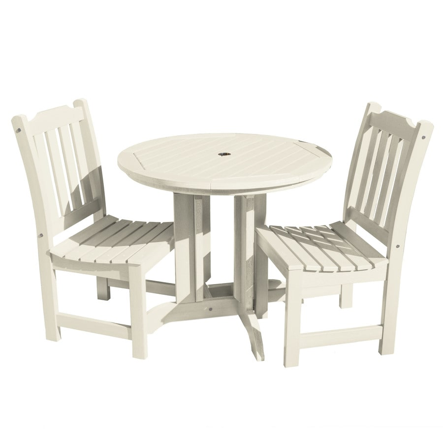 Highwood The Lehigh Collection 3 Piece Off White Frame Patio Set In The Patio Dining Sets Department At Lowes Com