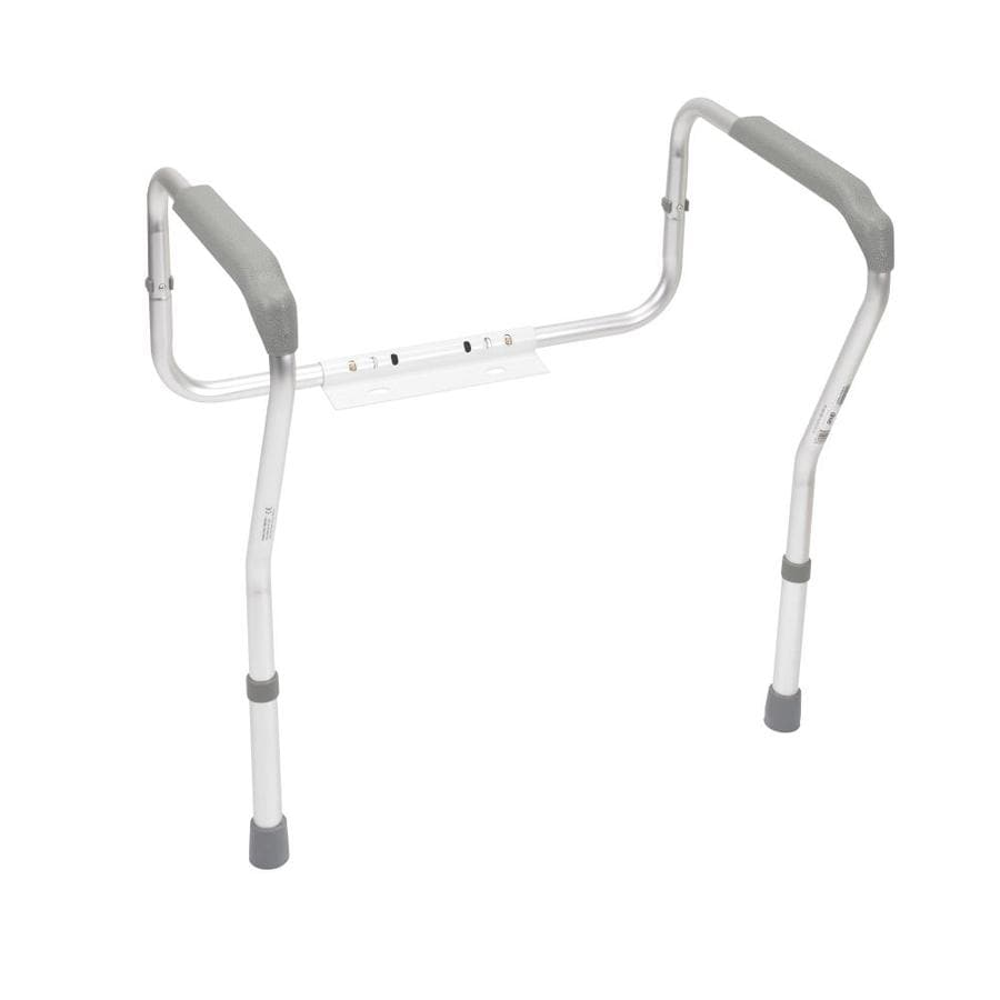 Shop Drive Medical White Toilet Safety Rails at Lowes.com on grab bars for bathroom, toilets for bathroom, mobility aids for bathroom, furniture for bathroom, hardware for bathroom, ladder for bathroom, shelving for bathroom, windows for bathroom, mirrors for bathroom, standing shelves for bathroom, safety rails home, wheelchairs for bathroom, doors for bathroom, commodes for bathroom, handrails for bathroom, signs for bathroom, lighting for bathroom, carts for bathroom, towel bars for bathroom, flooring for bathroom,