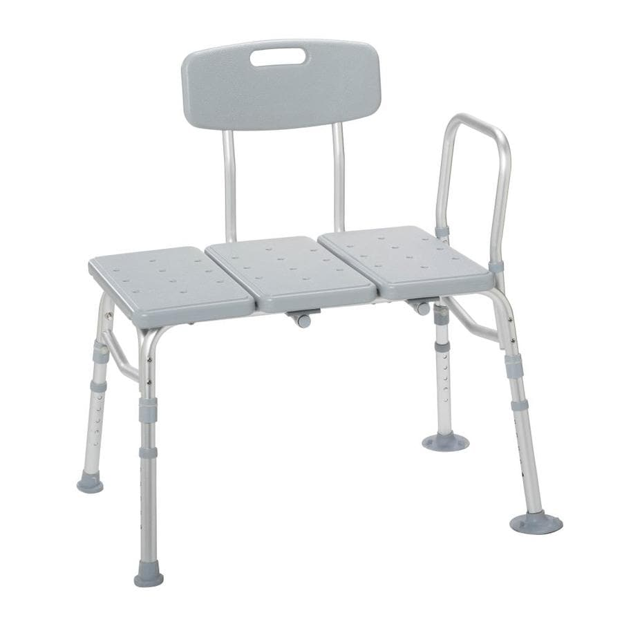 Drive Medical Gray Plastic Freestanding Transfer Bench At Lowes Com