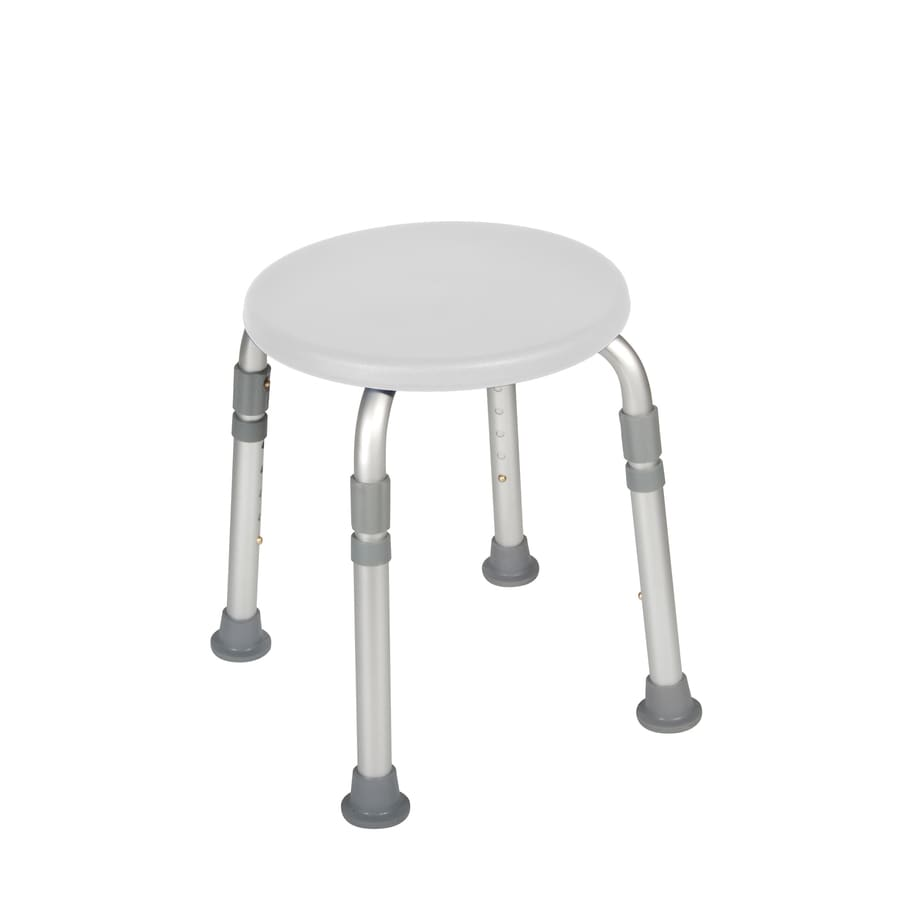 Shop Drive Medical White Plastic Freestanding Shower Chair at Lowes.com