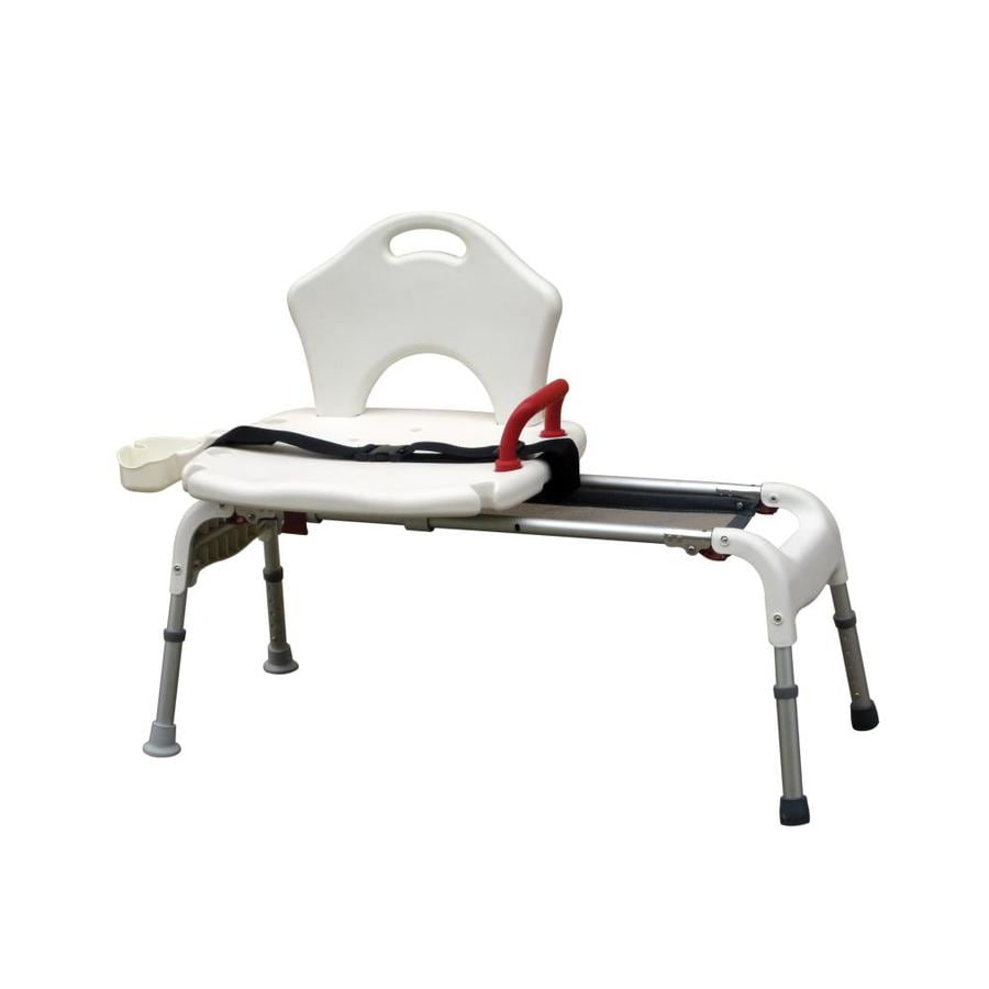 Shop Drive Medical White Plastic Freestanding Transfer Bench at ...