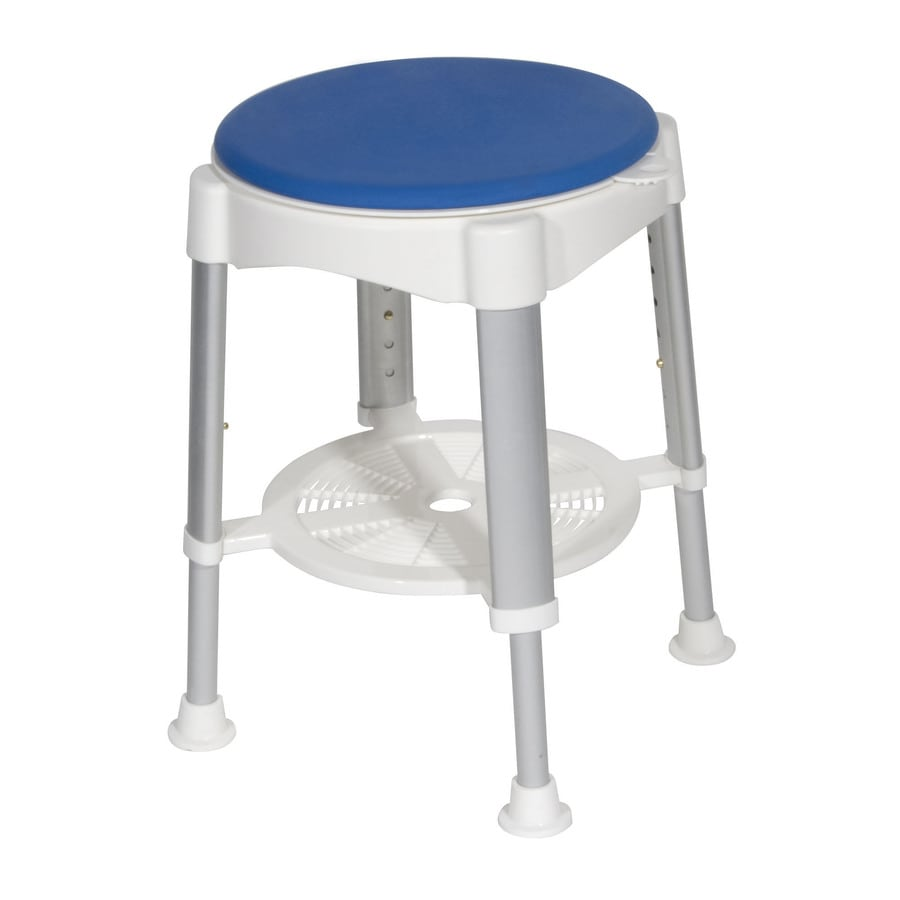 Shop Drive Medical White Plastic Freestanding Shower Chair