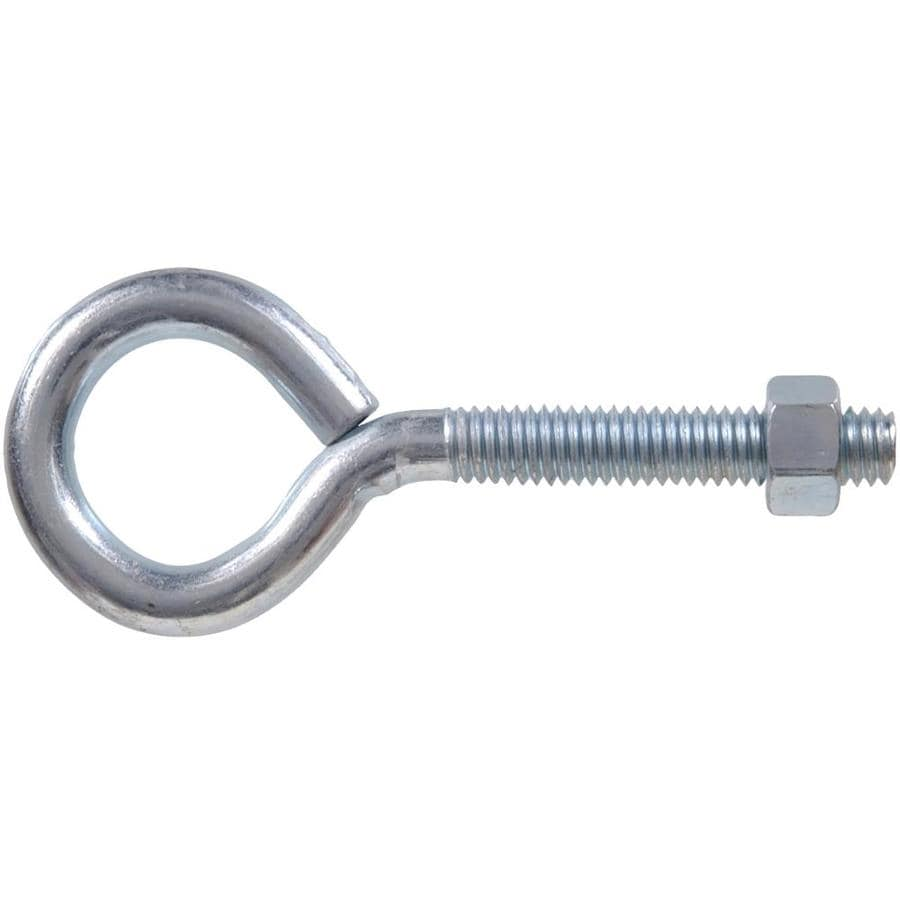 The Hillman Group 10-Count 7/32-in - 24 x 2.375-in Zinc-Plated Plain Eye Bolts with Hex Nuts