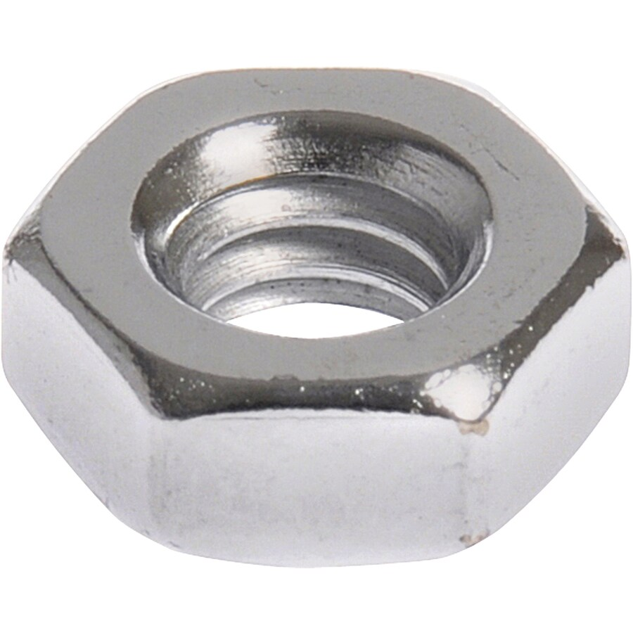 Hillman 50-Count #8 Chrome Standard (SAE) Hex Nuts