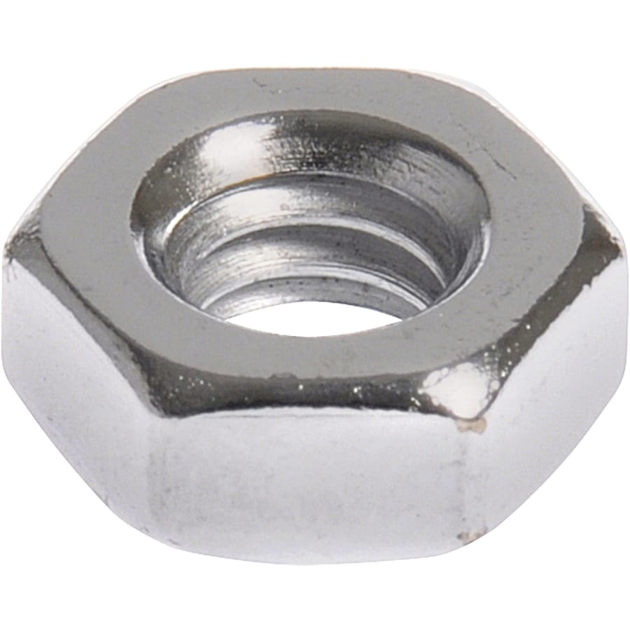 Hillman 40-Count 1/4-in Chrome Standard (SAE) Hex Nuts