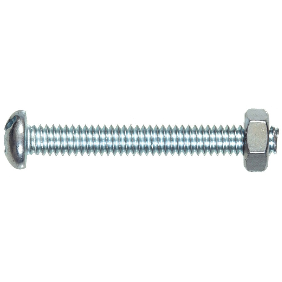 Hillman 8-Count #10-24 x 6-in Round-Head Zinc-Plated Slotted-Drive Standard (SAE) Machine Screws