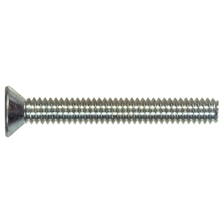 Hillman 30-Count #10-32 x 1-1/4-in Flat-Head Zinc-Plated Slotted-Drive Standard (SAE) Machine Screws