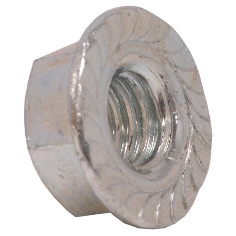 Hillman 20-Count 3/8-in Zinc-Plated Standard (SAE) Serrated Flange Lock Nuts