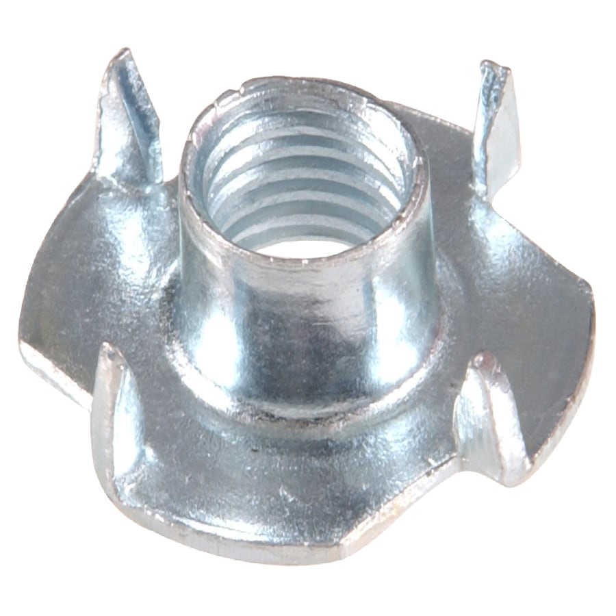 The Hillman Group 6-Count 3/8-in Zinc-Plated Standard (SAE) 4-Prong Tee Nuts
