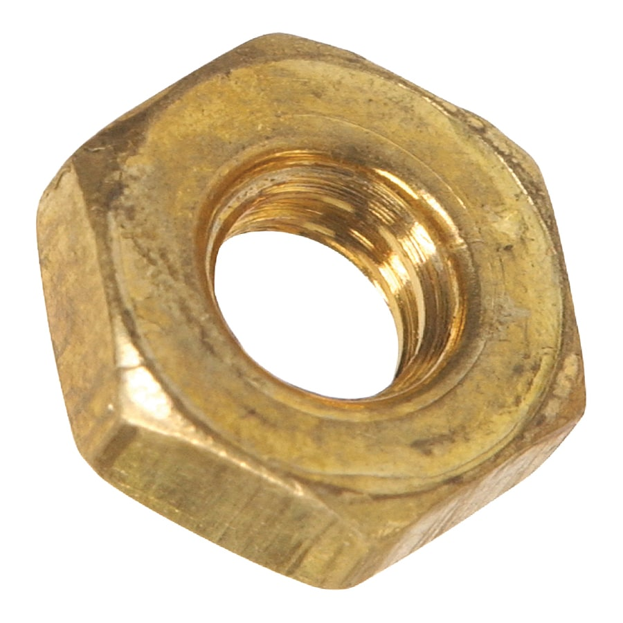 Hillman 40-Count 1/4-in-20 Brass Standard (SAE) Hex Nuts