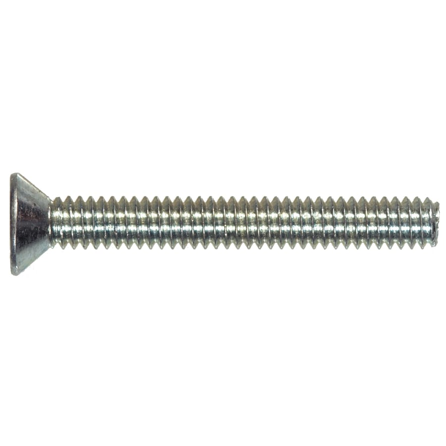 The Hillman Group 10-Count 6-mm-1.0 x 20-mm Flat-Head Zinc-Plated Slotted-Drive Metric Machine Screws