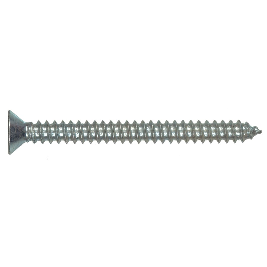 Hillman 100-Count #14 1/4-in x 2.5-in Zinc-Plated Interior/Exterior Sheet Metal Screws