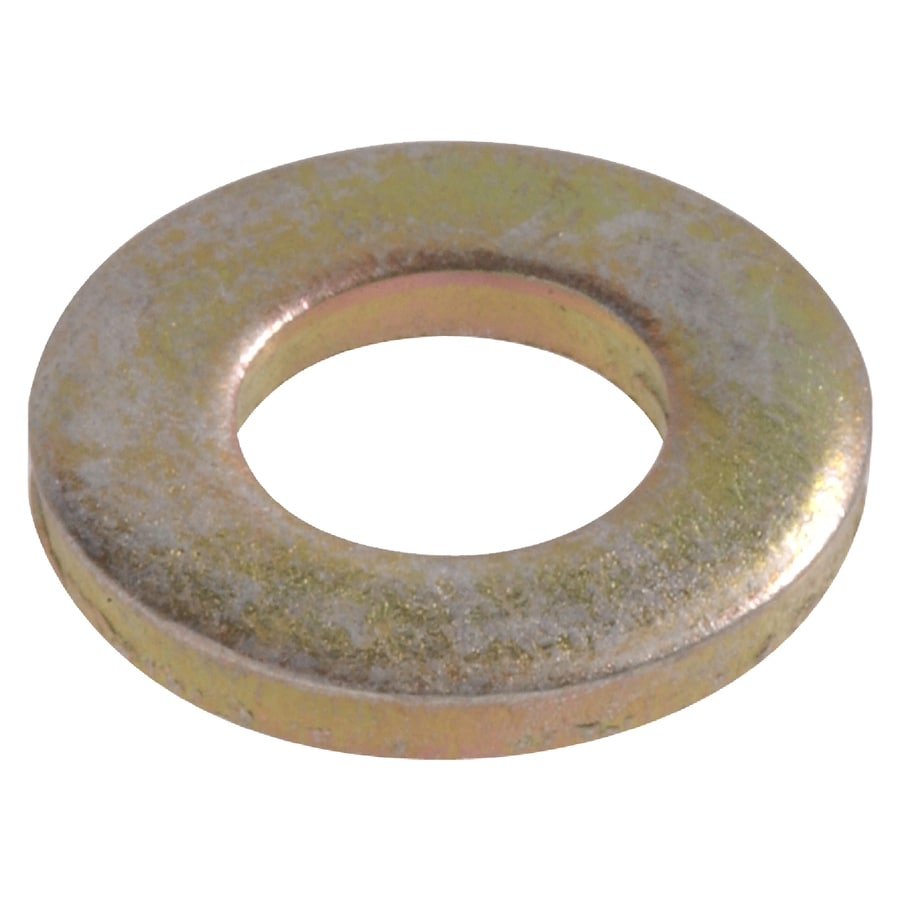 Hillman 12-Count 7/16-in Yellow Zinc Standard (SAE) Flat Washers