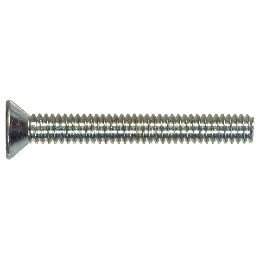 Hillman 100-Count #10-32 x 1-1/4-in Flat-Head Zinc-Plated Slotted-Drive Standard (SAE) Machine Screws