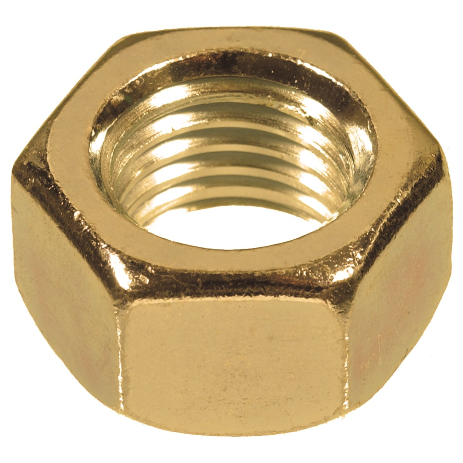 Hillman 50-Count 7/16-in-14 Brass Standard (SAE) Hex Nuts