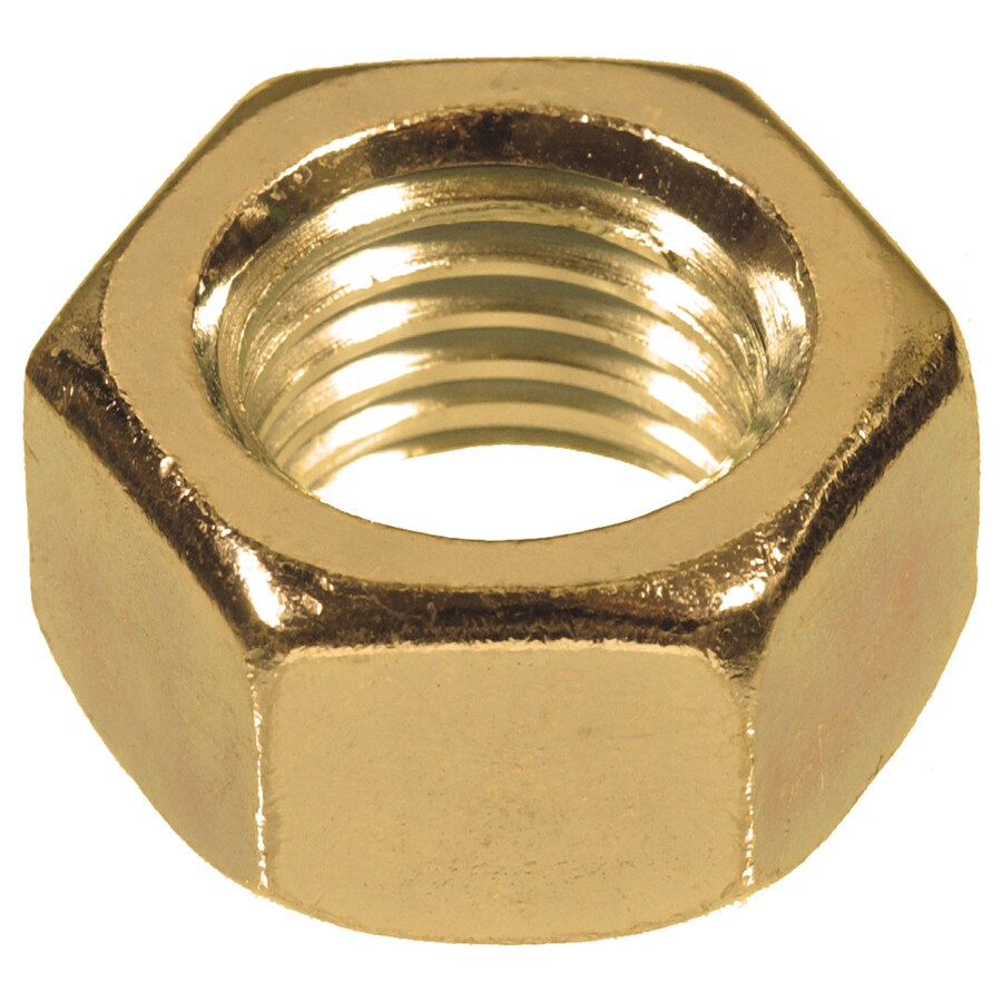 Hillman 50-Count 1/2-in-13 Brass Standard (SAE) Hex Nuts