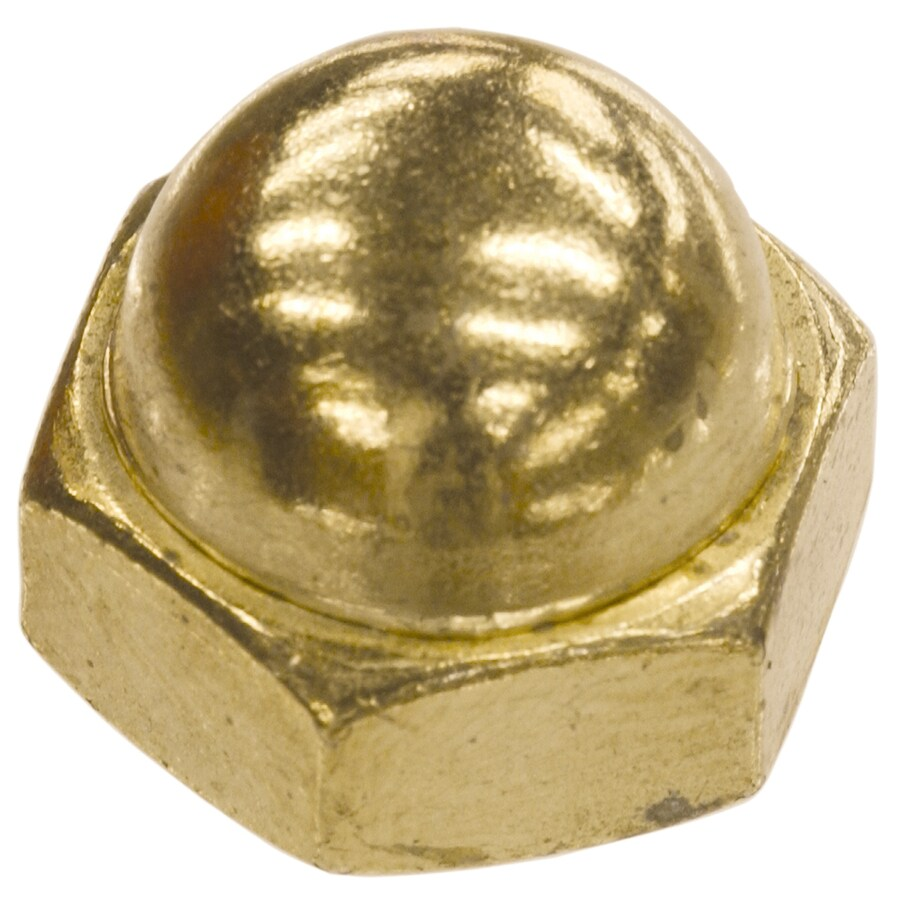 The Hillman Group 100-Count #4 Brass Standard (SAE) Cap Nuts