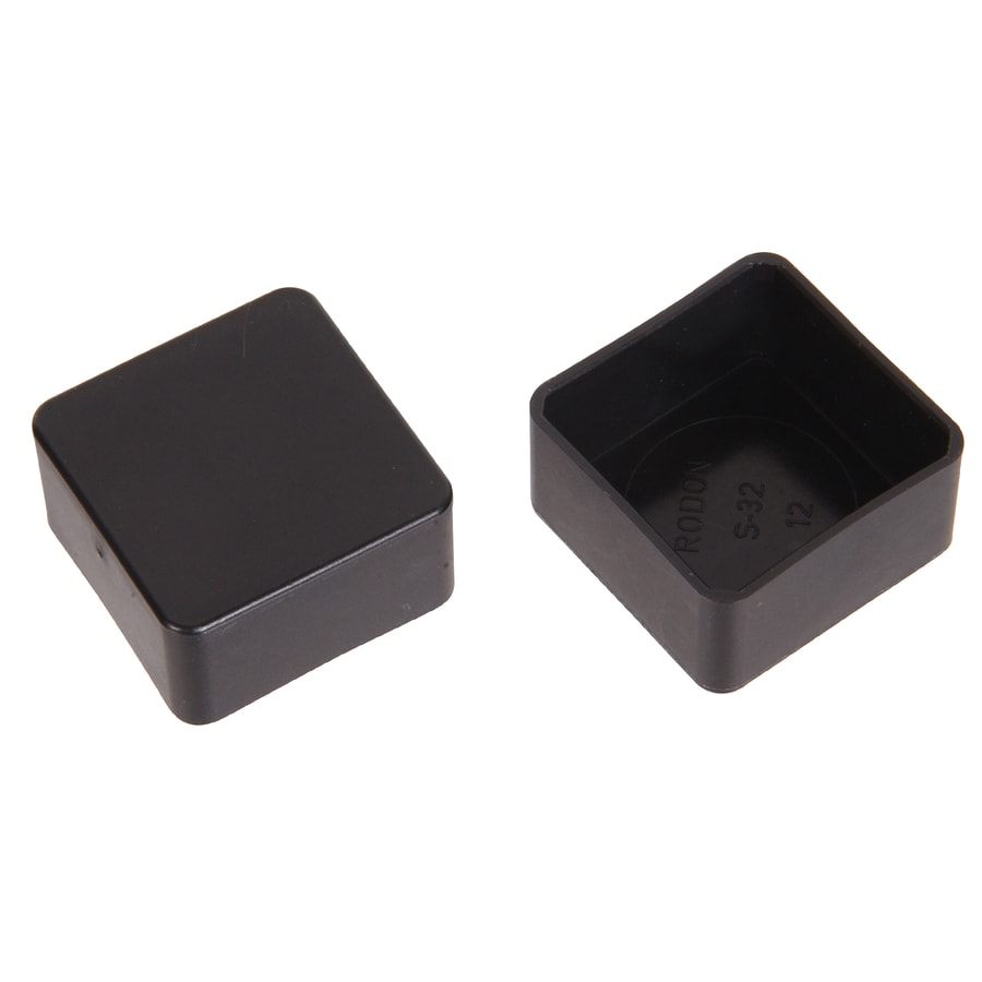 The Hillman Group 2-Pack 1/2-in x 1/2-in Black Plastic End Caps