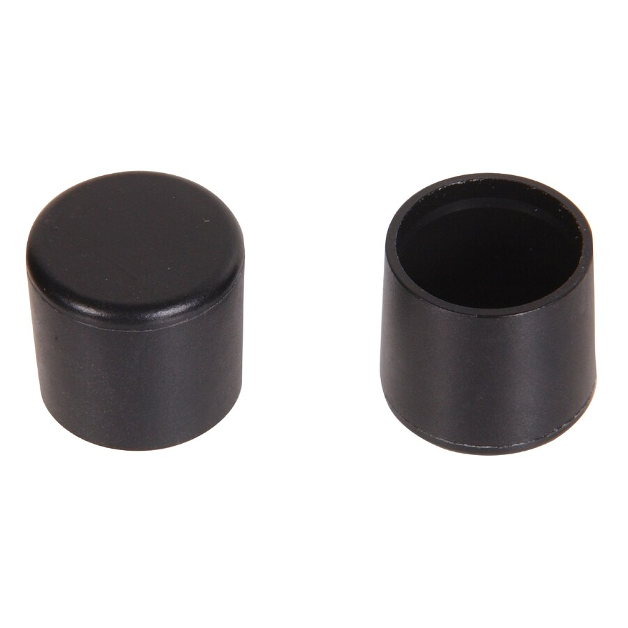The Hillman Group 2-Pack 1/2-in x 3/4-in Black Plastic End Caps