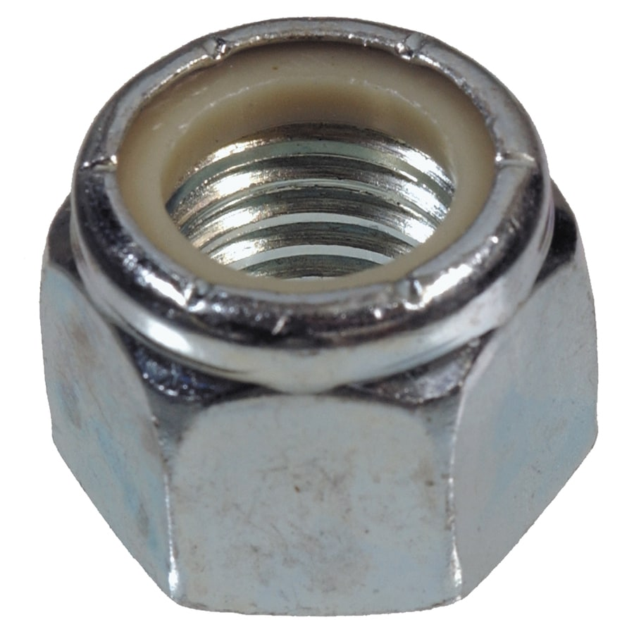 The Hillman Group 10-Count 1-1/2-in Zinc-Plated Standard (SAE) Nylon Insert Lock Nuts