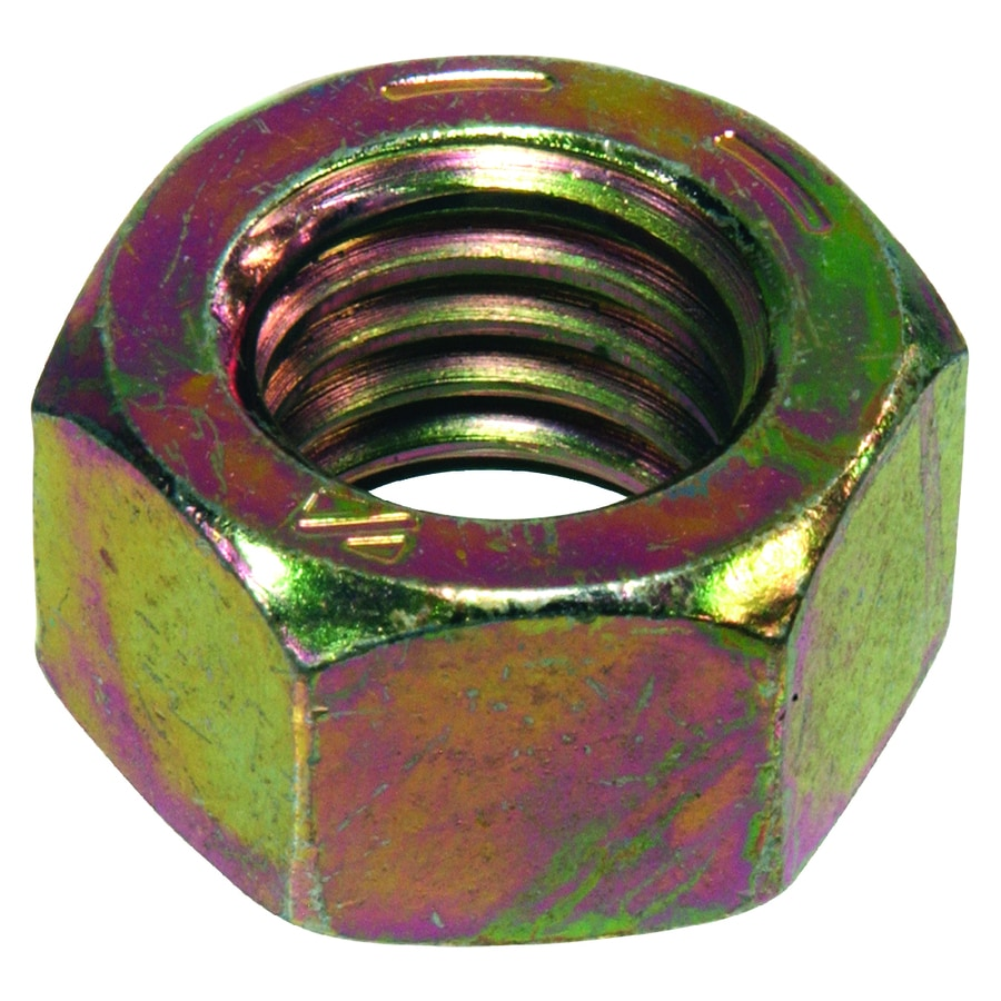 The Hillman Group 10-Count 7/8-in-9 Yellow Zinc Standard (SAE) Hex Nuts