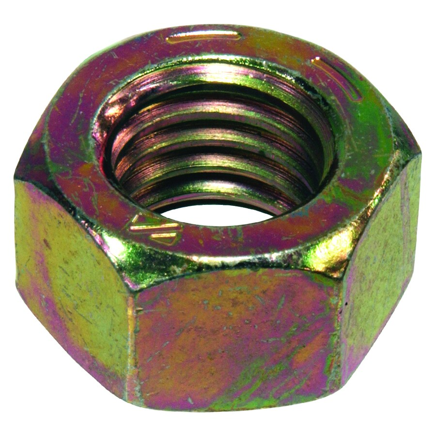 Hillman 10-Count 1-1/4-in-7 Yellow Zinc Standard (SAE) Hex Nuts