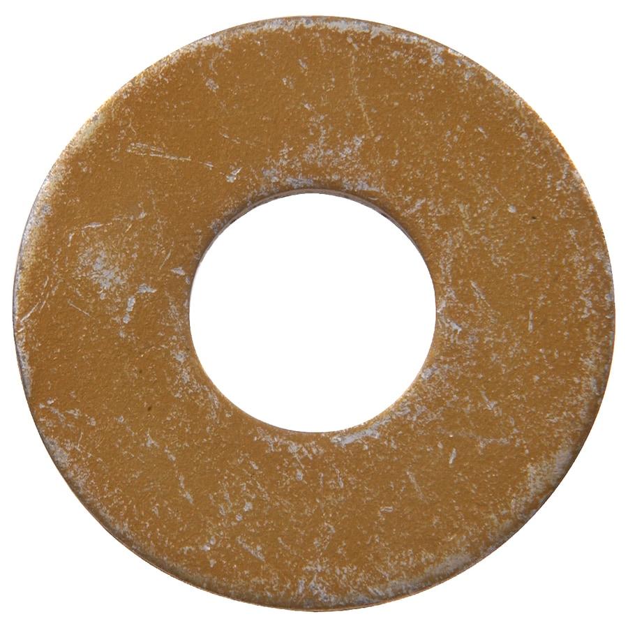 Hillman 50-Count 9/16-in Yellow Zinc Standard (SAE) Flat Washers