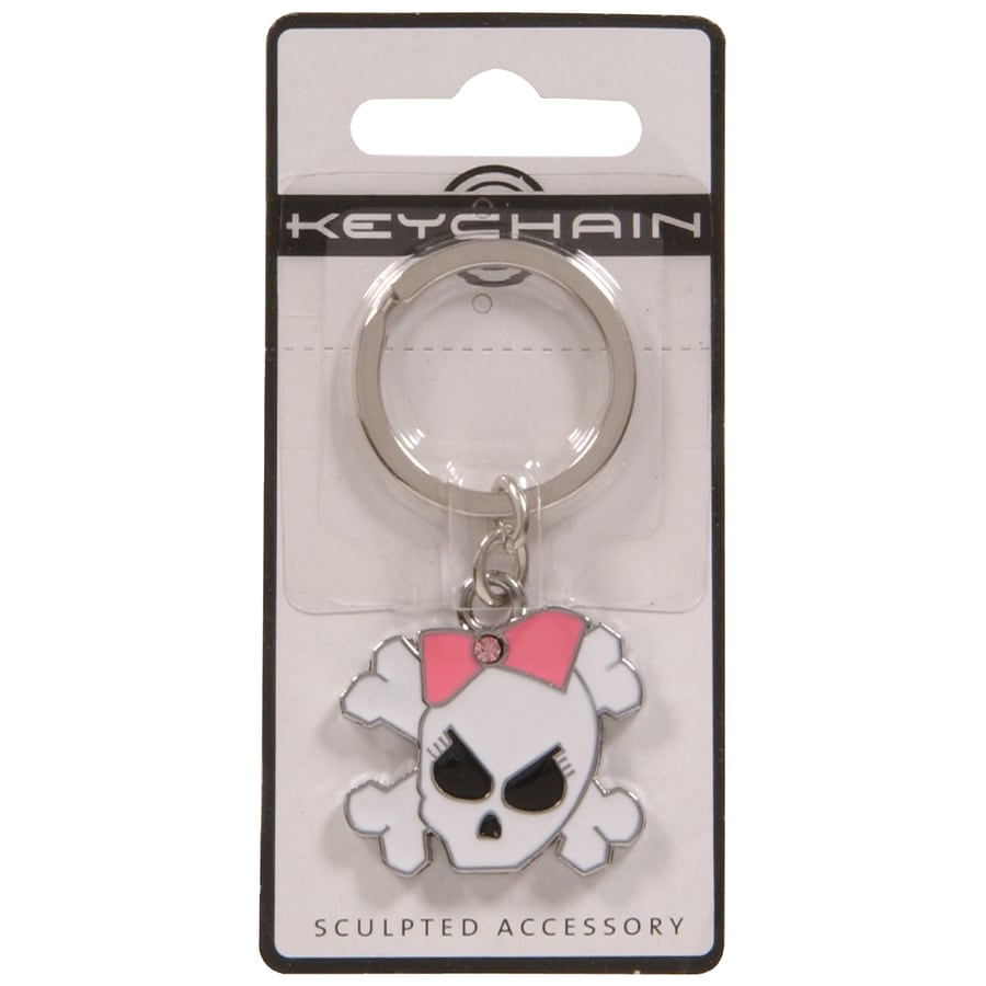 The Hillman Group 3D Key Chain- Girly Skull