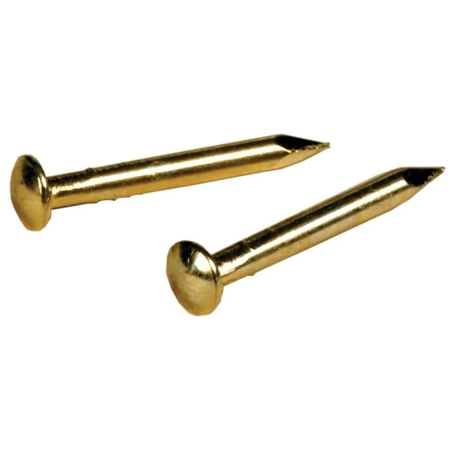 The Hillman Group 1.5-oz 16-Gauge 5/8-in Brass-Plated Linoleum Nails