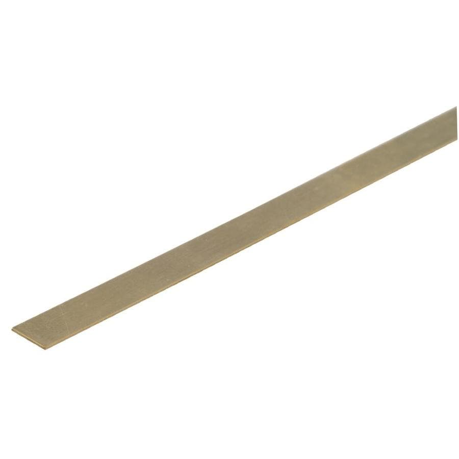 The Hillman Group 4-Pack 0.5-ft x 0.25-in Brass Metal Flat Bar