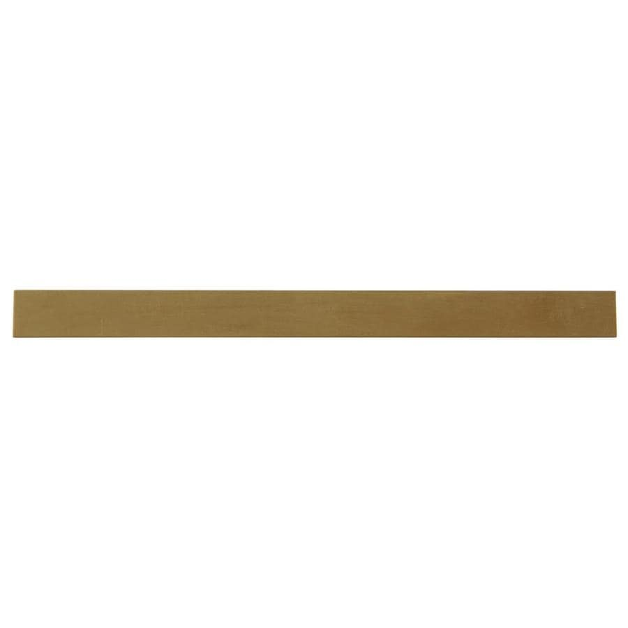 Hillman 2-Pack 0.5-ft x 0.5-in Brass Metal Flat Bar