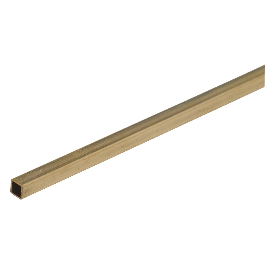 Hillman 2-Pack 0.5-ft L x 0.125-in W x 0.125-in H Brass Plain Square Tube