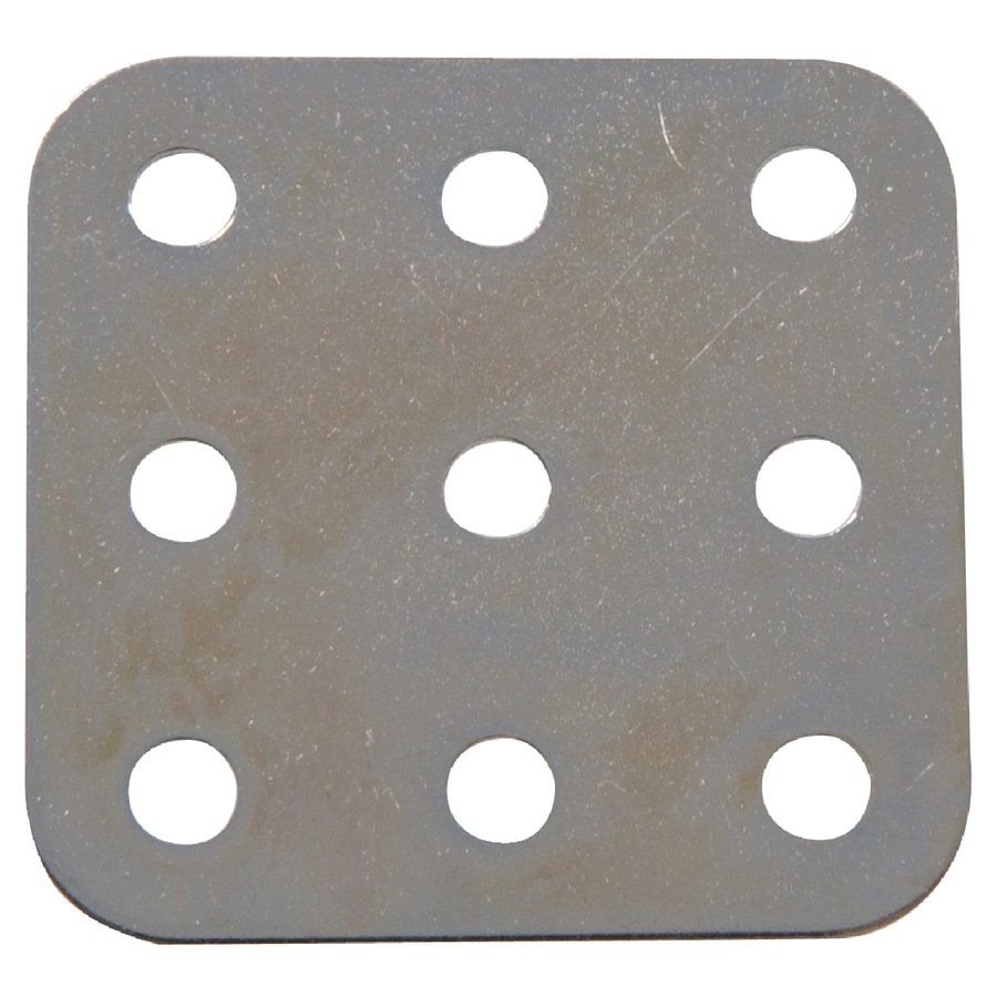 Hillman 1-1/2-in x 1/4-in Metal Slotted Square Plate