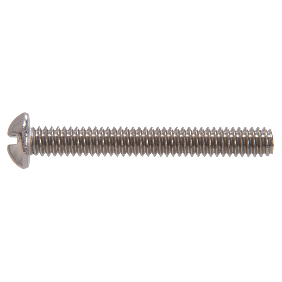 The Hillman Group 50-Count #6-32 x 3-in Round-Head Stainless Steel Slotted-Drive Standard (SAE) Machine Screws