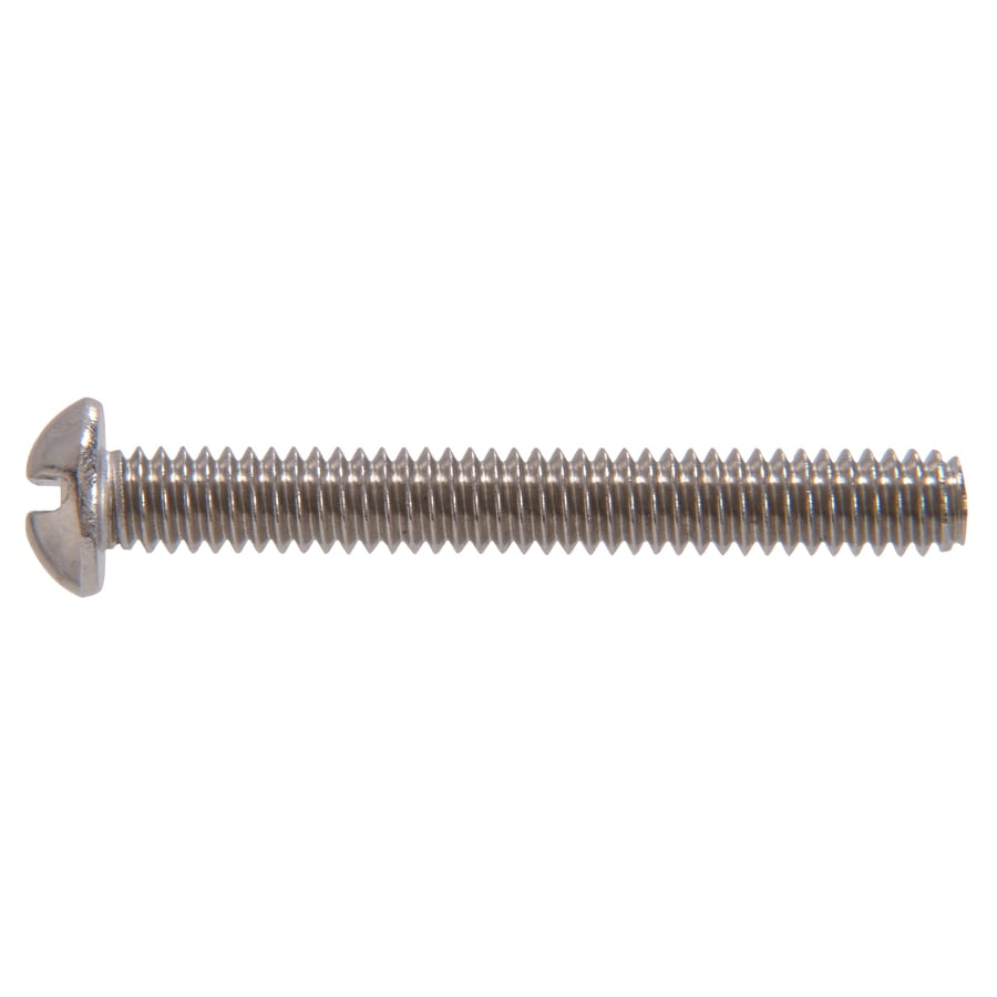 The Hillman Group 50-Count #14-20 x 3-1/2-in Round-Head Stainless Steel Slotted-Drive Standard (SAE) Machine Screws