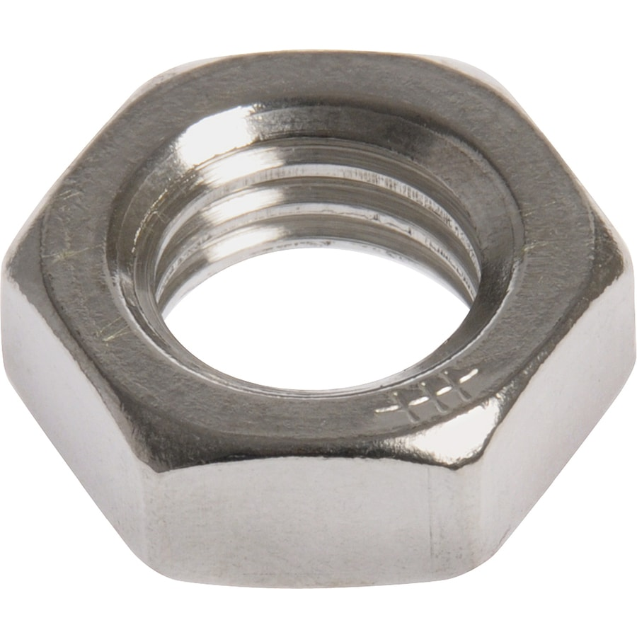 The Hillman Group 100-Count 1/4-in Stainless Steel Standard (SAE) Jam Nuts