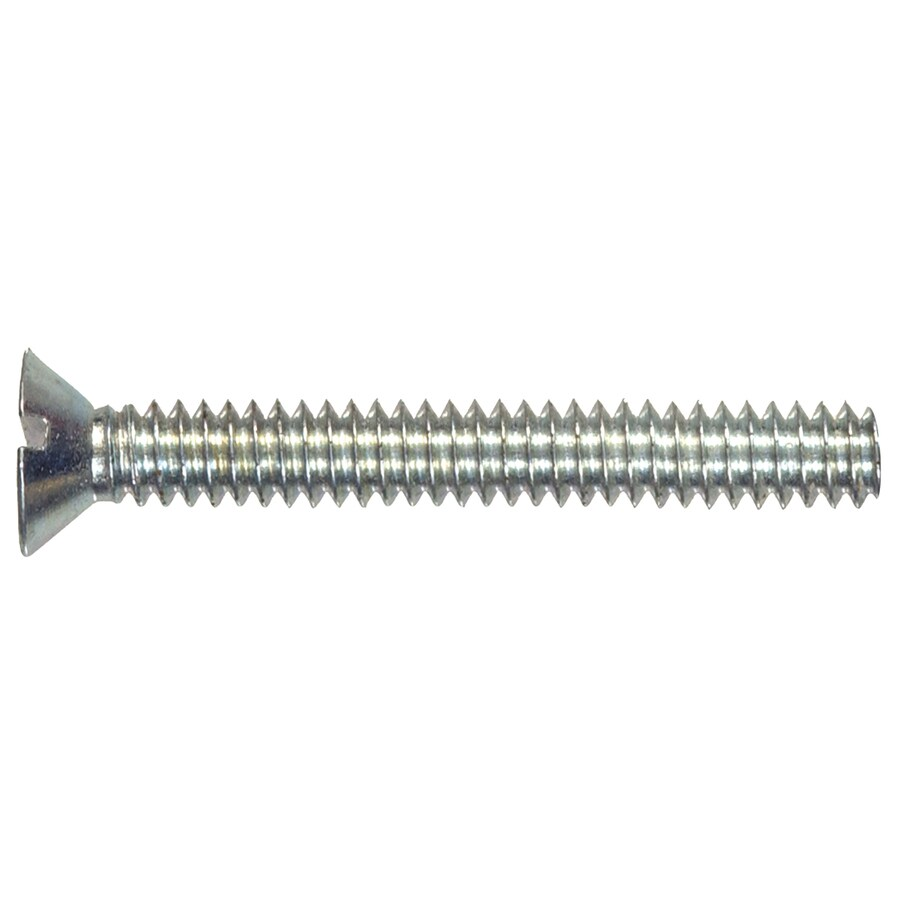 The Hillman Group 25-Count #8-32 x 4-in Flat-Head Zinc-Plated Slotted-Drive Standard (SAE) Machine Screws