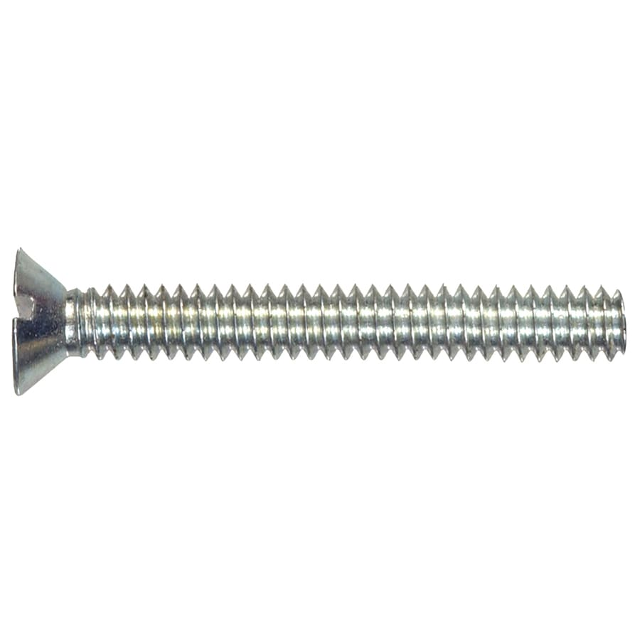 Hillman 25-Count #10-32 x 3-in Flat-Head Zinc-Plated Slotted-Drive Standard (SAE) Machine Screws