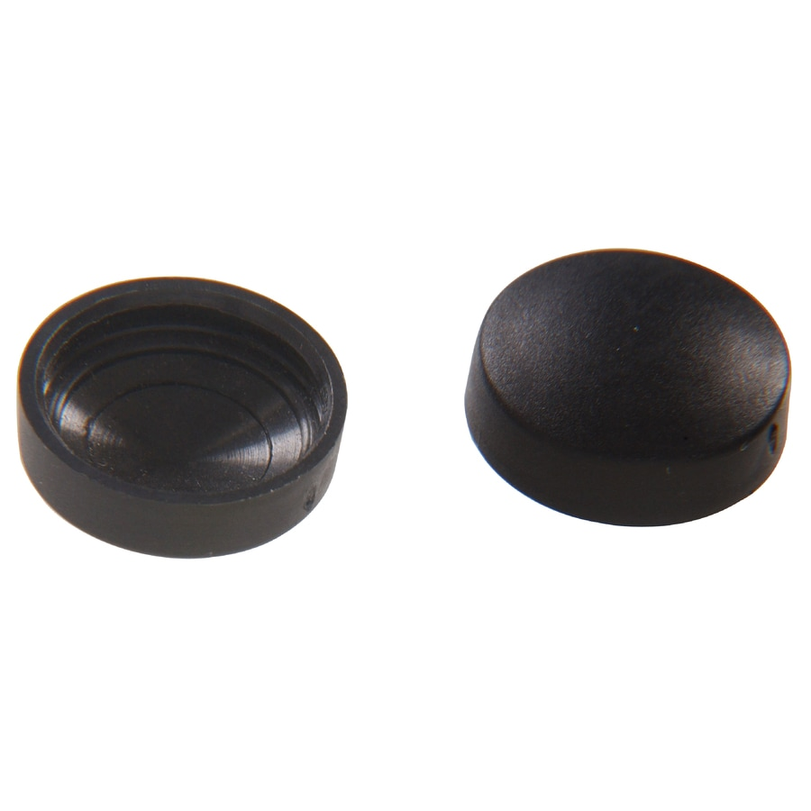 Hillman 1/2-in x 3/16-in Black Plastic End Cap