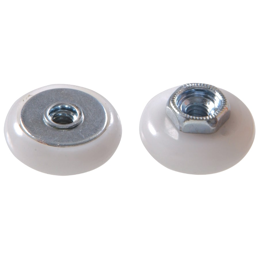 The Hillman Group 10-Pack 7/8-in Oval Nylon Ball Bearing Tub and Shower Door Rollers