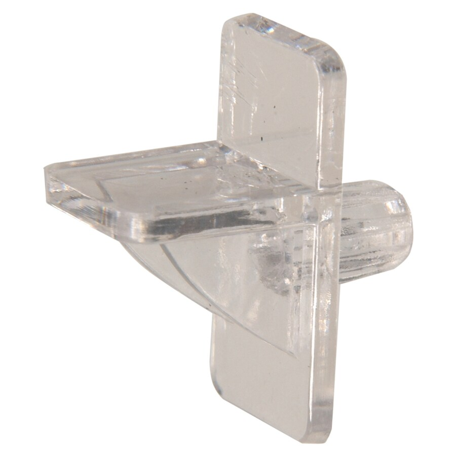 Hillman 15-Pack 0.25-in Clear Square Shelving Hardware
