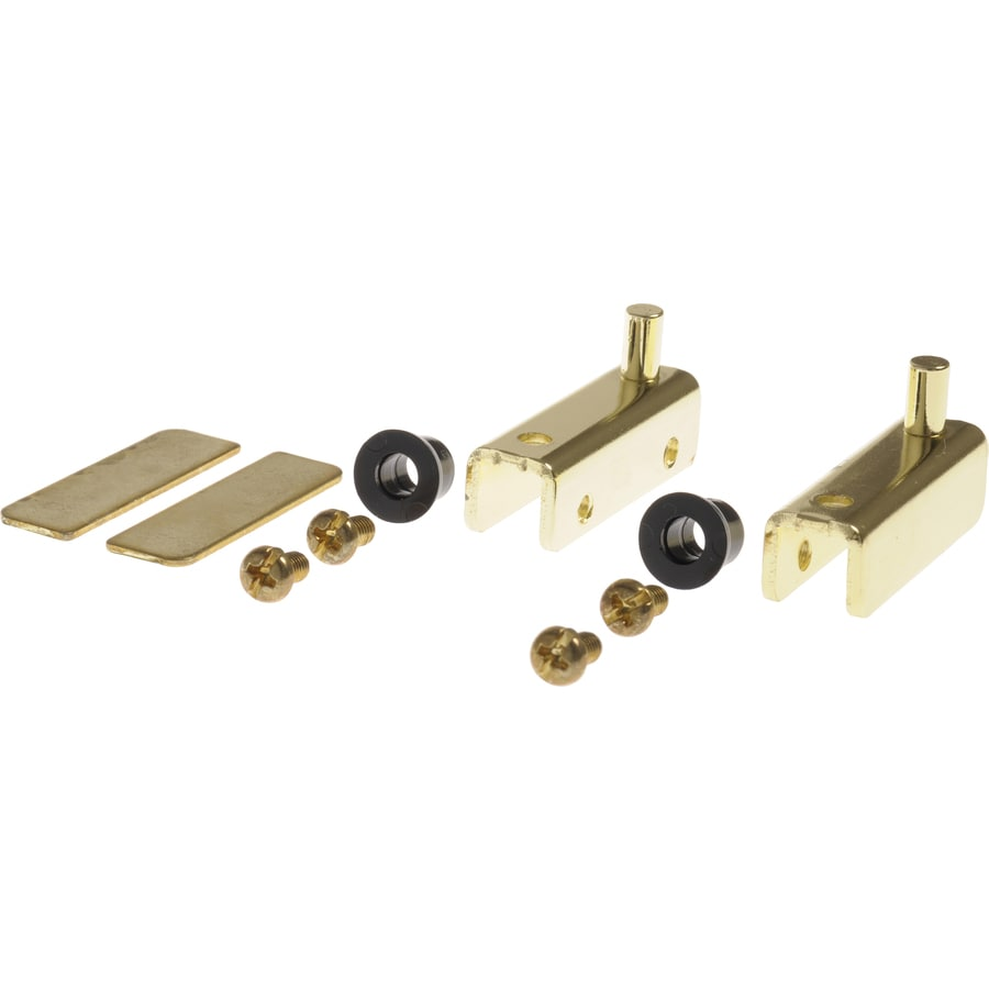 Hillman 2-Pack 1/2-in x 1-1/2-in Brass Cabinet Hinges