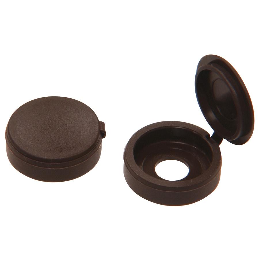 Hillman 1/2-in x 1-in Brown Plastic End Cap