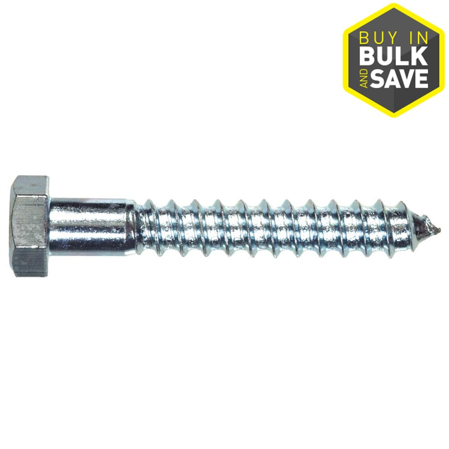 Hillman 1/4-in x 3-in Zinc-Plated Lag Bolts