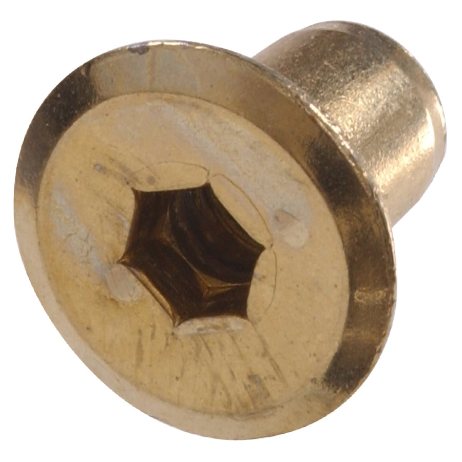 Hillman 12-Count 1/4-in x 1/2-in Brass-Plated Standard (SAE) Joint Connector Nut